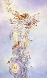 My favorite depiction of The Fool, from the Shadowscapes Tarot  by Stephanie Pui-Mun Law